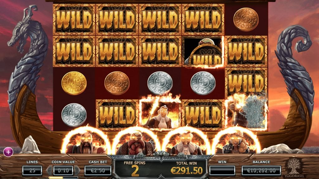 vikings go berzerk freespins screenshot video slot yggdrasil
